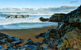 Related Pictures sea shore rocks landscape ocean waves theme 111