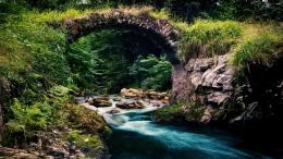download stone arch over stream wallpaper in nature wallpapers with 993