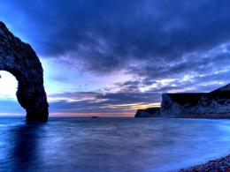 Beautiful Rock Arch In A Cove At Dusk Hd Wallpaper | Wallpaper List 463
