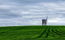 Idyllic green windmill wallpaper, HD Wallpaper Downloads 1684