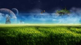 Windmill on the green field Widescreen Wallpaper#15120 743