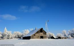 winter, wallpapers, windmill, field, wallpaper, original, zima 340