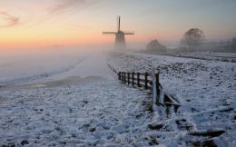 Snow Fields Windmill Fences wallpapers | Snow Fields Windmill Fences 118