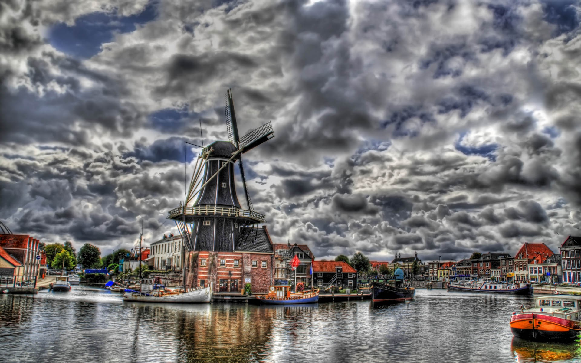 HDR Photography Windmills Awesome 2   Free Desktop HD Wallpaper 1356