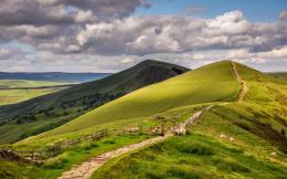 Path In A Pasture On The Hills Hd Wallpaper   Wallpaper List 1288
