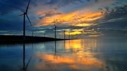 Windmill sunset Landscape : HD wallpaper, Background wallpaper 989