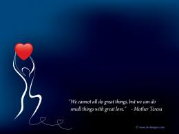 with great loveMother Teresaquotes on wallpaper| SL Designs 460