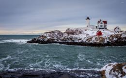 Pics PhotosLighthouse Over Rocky Shore Wallpaper Desktop Background 1039
