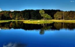 Beautiful wide natural lake wallpaper Lake is attached with a green 300