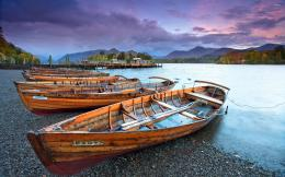Wooden boats on the pebble beach of the river wallpaperPhotography 691