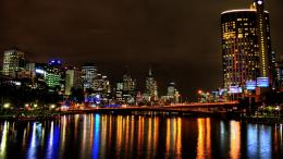 Yarra River in night wallpaper 493