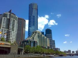 Photo of Eureka Towers & Langham from Yarra River, Melbourne CBD 806
