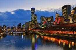 Of Melbourne At Night Yarra River #24360 Wallpaper | Wallpaper hd 224