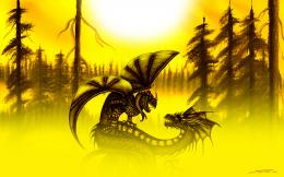 Art Dragon Wallpaper 1440x900 Art, Dragon, Yellow 670