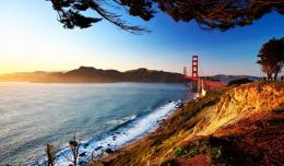 Stunning Golden Gate Bridge In Sunrise Hd Wallpaper | Wallpaper List 1137