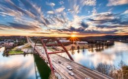 Pennybacker Bridge Sunrise Austin Texas United States Mac Wallpaper 719
