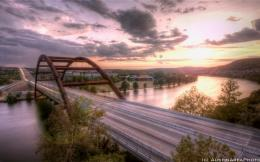 Austin 360 Bridge at sunrise wallpaper 466