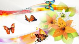 Vector Butterflies Collage Hd Sfondo | Wallpaper List 1126