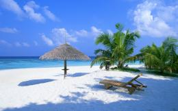 Maldives Paradise Island Beach Wallpaper 1706
