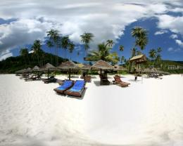 Beach in paradise with white sands wallpaper 814