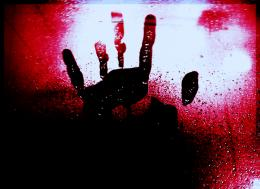 Bloody Handprint Wallpaper The bloody handprint by 161