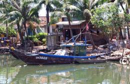 River boat in Hoi An Vietnam 976