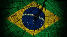 Brazil flag on wood wallpaper 1277