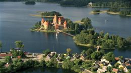 1366x768 Lithuania Trakai Castle Island desktop PC and Mac wallpaper 1797