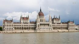 World Europe Danube Budapest Hungary The Hungarian Parliament Building 1373