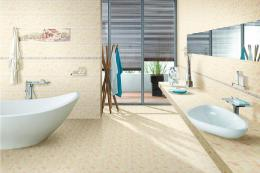 Ceramic tile for bathroom floors and walls 337