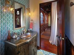 Mediterranean Powder Room with Powder room & specialty door | Zillow 916