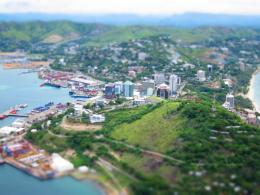 Tilt Shift Photo of Port Moresby, Papua New Guinea Pictures 838