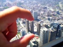 Miniature City Tilt Shift Photography Desktop Wallpaper 420