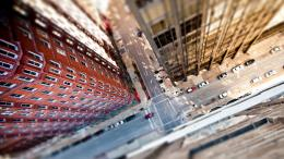 1280x720 City streets tilt shift Wallpaper 771