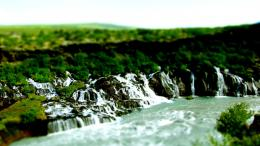 Waterfalls In Tilt Shift Photo Hd Wallpaper | Wallpaper List 164