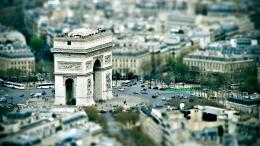 arc de triomphe paris tilt shift city photo wide hd wallpaper is a 802