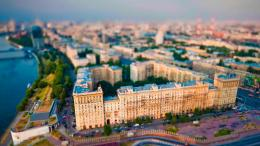 Moscow Cityview In Tilt Shift Photo Hd Wallpaper | Wallpaper List 427