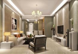living room interior design tv background chandelier sofa living room 1231