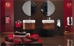 red and black bathroom decor 2015Grasscloth Wallpaper 414