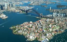over the sydney opera house sydney harbour bridge hd wallpapers 306