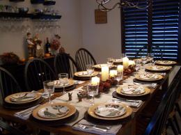 Room With Thanksgiving Dinner Table Setting HD Wallpapers Planning 1909