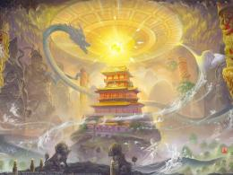 Guardian Of The Temple painting wallpaper 466