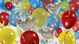 Happy Birthday Ballons Celebration HD Wallpape #20697 Wallpaper 377