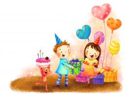 Free Wallpaper – What a Cozy and Happy Birthday Celebration Scene! 719