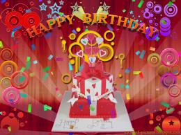 Red happy birthday wallpaper 875