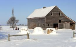 Barn in the snow HD Wallpaper 1920x1080 Barn in the snow HD Wallpaper 281