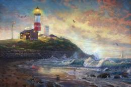 Montauk Lighthouse, Beacon of Long IslandThomas Kinkade Galleries 741