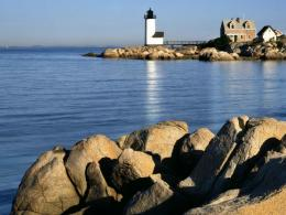Lighthouse On A Rocky Point Hd Wallpaper | Wallpaper List 714