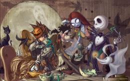 kingdom hearts goofy jack skellington donald duck 1100x786 wallpaper 597