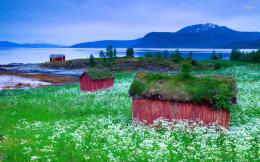 Small lakeside houses, Norway wallpaper1029998 544